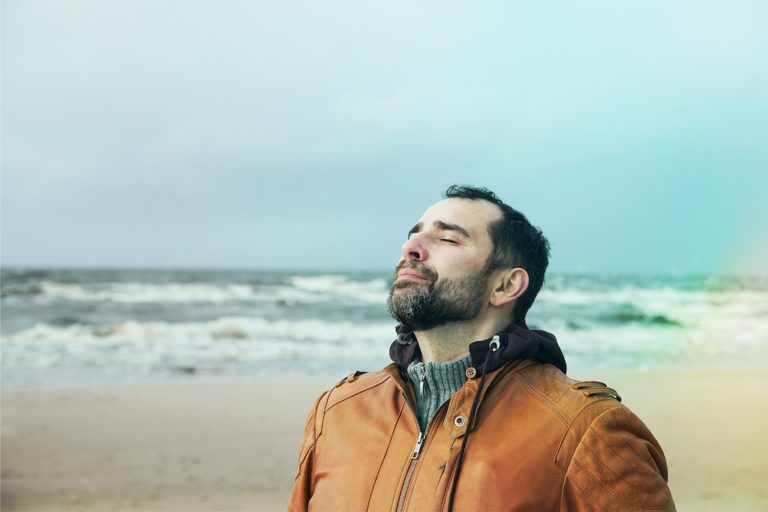 Deep breathing combats stress