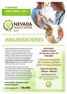 Childhood Immunization Flyer - spanish